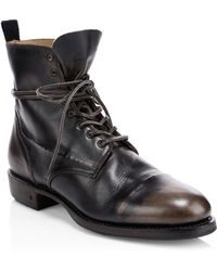 John Varvatos - Folsom Leather Lace-up Boot - Lyst