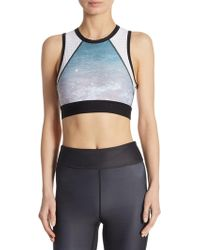 Alala - Swell Crop Perforated Tank - Lyst