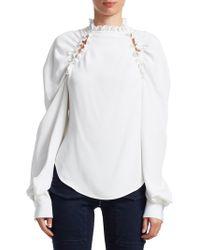 Rachel Comey - Women's Traipse High Neck Blouse - Blue - Size 00 - Lyst