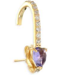 Paige Novick - Powerful Pretty Things Diamond & Tanzanite Single Suspender Earrings - Lyst