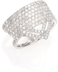 Meira T - Pave Diamond & 14k White Gold Ice Ring - Lyst