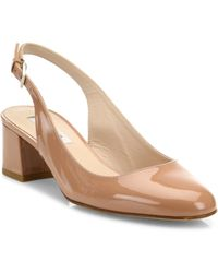 L.K.Bennett - Chloe Patent Leather Slingback Court Shoes - Lyst