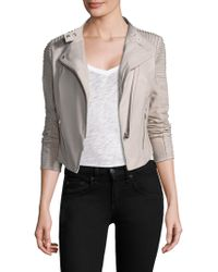 Lamarque - Paige Distressed Leather Jacket - Lyst
