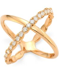 Hearts On Fire | Lorelai Diamond & 18k Rose Gold Ring | Lyst
