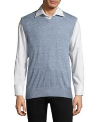AG Green Label - Knit Heathered Vest - Lyst