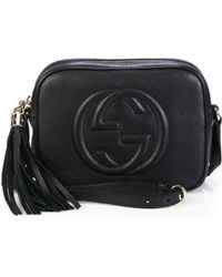 2063cee4c800 Gucci Soho Leather Chain Crossbody Bag in Black - Lyst