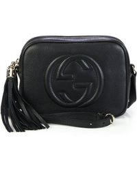 146d86cb6be Lyst - Gucci Soho Leather Chain Crossbody Bag in Black
