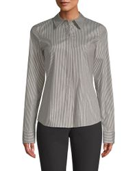 Lafayette 148 New York - Phaedra Button-front Blouse - Lyst