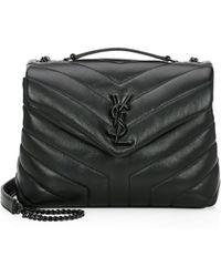 Saint Laurent - Small Lou Lou Chevron Leather Crossbody Bag - Lyst