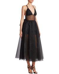 Rosie Assoulin - Tulle Shimmering Midi Dress - Lyst