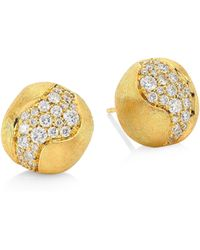 Marco Bicego - 18k Yellow Gold Africa Constellation Pavé Diamond Stud Earrings - Lyst