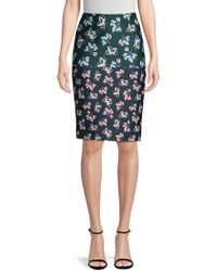 Yigal Azrouël - Floral Printed Pencil Skirt - Lyst