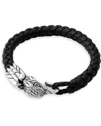 King Baby Studio | Eagle Leather And Sterling Silver Bracelet | Lyst