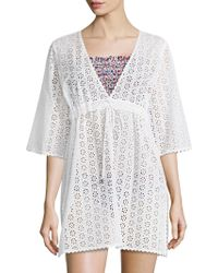 Tory Burch - Broderie Anglaise Cotton Dress - Lyst