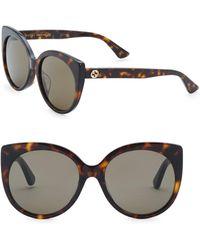 Gucci - Urban 57mm Cat Eye Sunglasses - Lyst