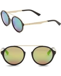 Web - 49mm Round Pilot Sunglasses - Lyst