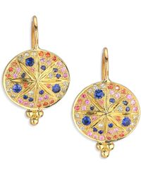 Temple St. Clair - Celestial Multicolor Sapphire & 18k Yellow Gold Sorcerer Drop Earrings - Lyst