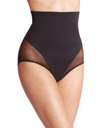 Tc Fine Intimates - Sheer Shaping High-waist Brief - Lyst