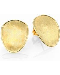 Marco Bicego - Lunaria 18k Yellow Gold Small Button Earrings - Lyst