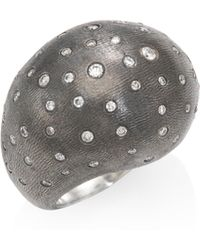 Rene Escobar - Pearl Diamond & Sterling Silve Dome Ring - Lyst