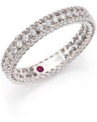 Roberto Coin - Symphony Diamond & 18k White Gold Ring - Lyst