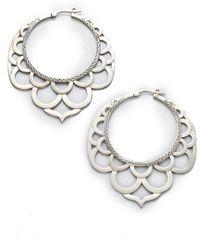 John Hardy - Naga Sterling Silver Large Lace Hoop Earrings/2.2 - Lyst