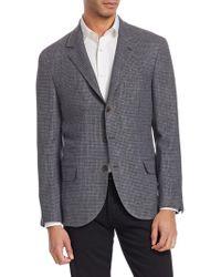Brunello Cucinelli - Textured Houndstooth Jacket - Lyst