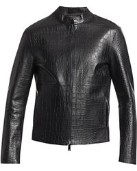 c6d14cc0fbf Zilli Crocodile Leather Bomber Jacket in Blue for Men - Lyst