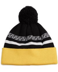 d27a2ae09d9 Lyst - Fendi Monster Fur Pom-pom Beanie in Black for Men