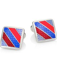 David Donahue - Multistriped Sterling Silver Cuff Links - Lyst