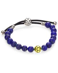 John Hardy - Dot Lapis Lazuli & Sterling Silver Bead Bracelet - Lyst