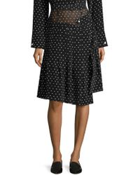 Sandy Liang - Asymmetric Polka Dot Skirt - Lyst