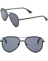 Le Specs - 55mm Empire Aviator Sunglasses - Lyst