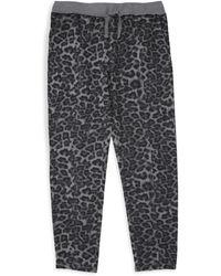 Splendid - Girl's Leopard Joggers - Lyst