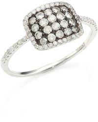 Meira T | Diamond & 14k White Gold Cushion Ring | Lyst