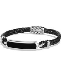 David Yurman - Engraved Silver Bracelet - Lyst
