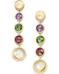 Marco Bicego - Jaipur Semi-precious Multi-stone & 18k Yellow Gold Drop Earrings - Lyst