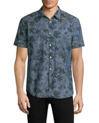 John Varvatos - Printed Short-sleeve Shirt - Lyst