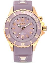 Kyboe - Rose Goldtone Stainless Steel & Silicone Strap Watch - Lyst