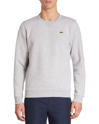Lacoste - Fleece Crewneck Sweatshirt - Lyst
