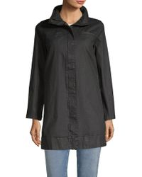Eileen Fisher - Hidden Hood A-line Coat - Lyst