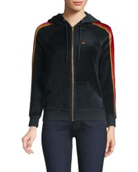 Aviator Nation - Classic Zip-front Velour Hoodie - Lyst