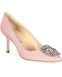 Manolo Blahnik - Hangisi 70 Jeweled Pump - Lyst