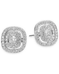 Kwiat - Silhouette Diamond & 18k White Gold Stud Earrings - Lyst