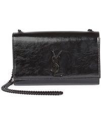 Saint Laurent | Monogram Medium Kate Patent Leather Chain Bag | Lyst