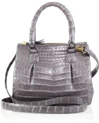 Nancy Gonzalez - Crocodile Mini Pliss & #233 Crossbody Bag - Lyst