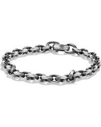 David Yurman - Knife Edge Sterling Silver Link Chain Bracelet - Lyst