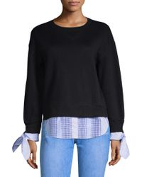 10 Crosby Derek Lam - Sweatshirt With Shirting Trim - Lyst