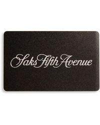 Saks Fifth Avenue - Saks Signature Gift Card - Lyst