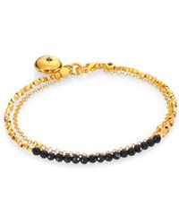 Astley Clarke - Black Spinel Locket Biography Bracelet - Lyst